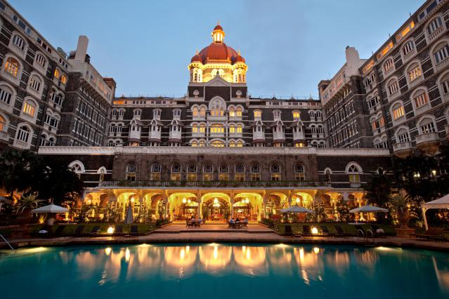 Pool at the Taj Mahal Palace and Tower Hotel in Colaba district
